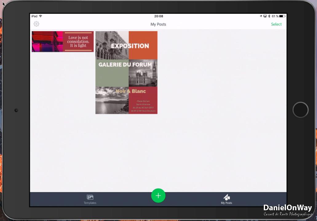 CopieEcran 1 1 Adobe Spark Post : Créer des Visuels au Design Stupéfiant pour vos Réseaux Sociaux