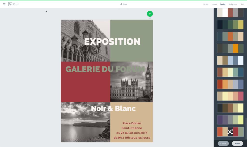 CopieEcran 2 1024x610 Adobe Spark Post : Créer des Visuels au Design Stupéfiant pour vos Réseaux Sociaux