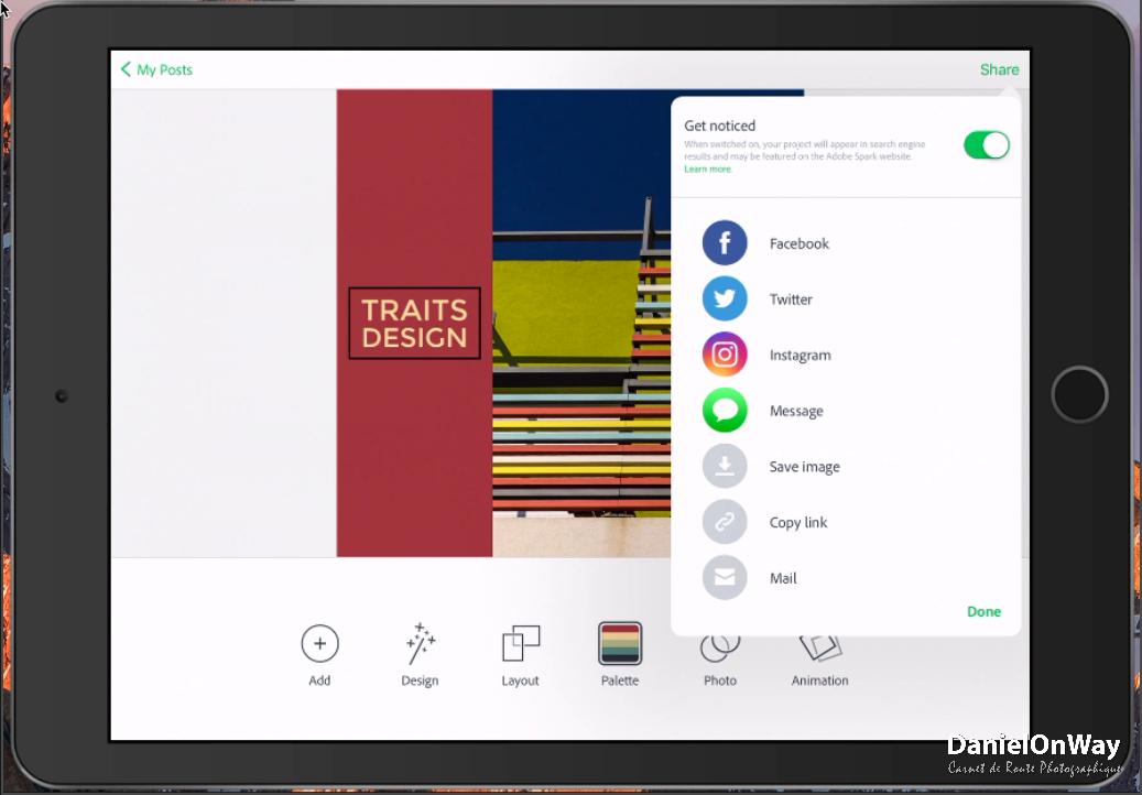 CopieEcran 3 1 Adobe Spark Post : Créer des Visuels au Design Stupéfiant pour vos Réseaux Sociaux
