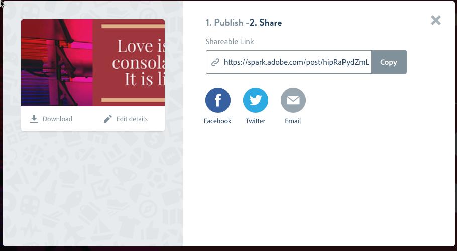 CopieEcran 6 Adobe Spark Post : Créer des Visuels au Design Stupéfiant pour vos Réseaux Sociaux