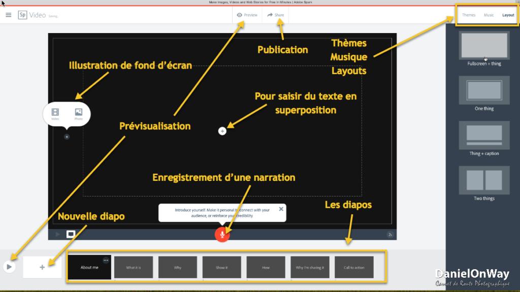 CopieEcran 1 1 1024x575 Adobe Spark Vidéo : Créez un Pitch Vidéo