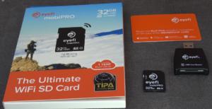 Kit EyeFi 300x154 Carte SDHC 32 Go + WiFi   Quand notre boitier ne dispose pas de wifi intégré
