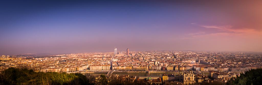 Ville de Lyon depuis la colline de Fourvière
