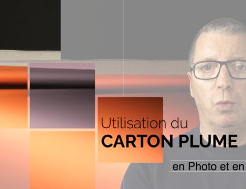 Utiliser du carton plume en photo et en vidéo