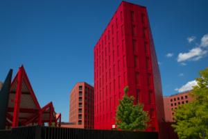 Poste Weiss 07 300x200 Atelier Créatif : Architecture Contemporaine   Couleur Rouge
